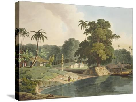 Near Bandell on the River Hoogly, Plate Viii from Part 6 of 'Oriental Scenery', Pub. 1804-Thomas & William Daniell-Stretched Canvas Print