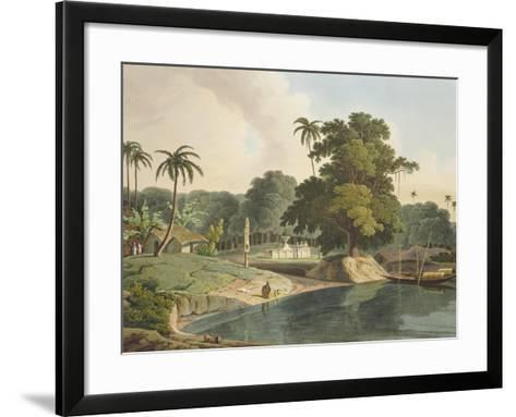 Near Bandell on the River Hoogly, Plate Viii from Part 6 of 'Oriental Scenery', Pub. 1804-Thomas & William Daniell-Framed Art Print