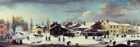 Winter Scene in Brooklyn, C.1817-Louisa Ann Coleman-Stretched Canvas Print