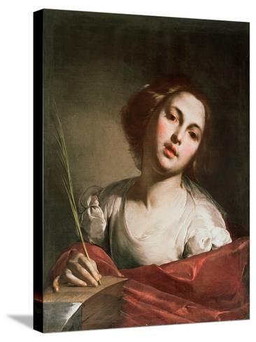 St. Catherine of Alexandria, Late 1640s-Bernardo Cavallino-Stretched Canvas Print