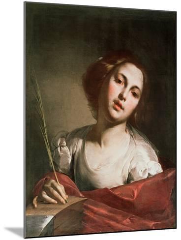 St. Catherine of Alexandria, Late 1640s-Bernardo Cavallino-Mounted Giclee Print