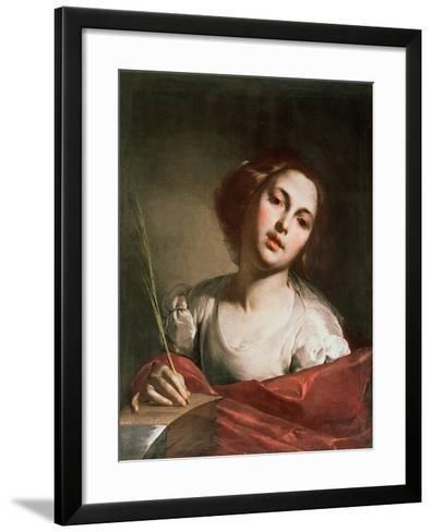 St. Catherine of Alexandria, Late 1640s-Bernardo Cavallino-Framed Art Print
