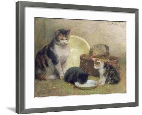 Cat and Kittens, 1889-Walter Frederick Osborne-Framed Art Print