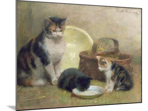 Cat and Kittens, 1889-Walter Frederick Osborne-Mounted Giclee Print