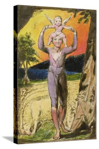 Frontispiece to Songs of Experience: Plate 29 from Songs of Innocence and of Experience, C.1802-08-William Blake-Stretched Canvas Print