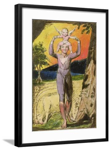 Frontispiece to Songs of Experience: Plate 29 from Songs of Innocence and of Experience, C.1802-08-William Blake-Framed Art Print