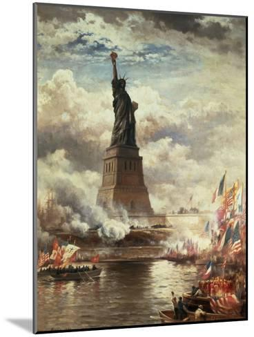 The Unveiling of the Statue of Liberty, Enlightening the World, 1886-Edward Moran-Mounted Giclee Print