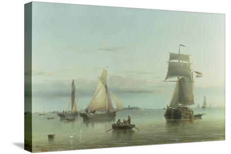 Calm on the Humber, 1864-Henry Redmore-Stretched Canvas Print