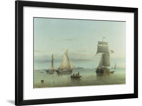 Calm on the Humber, 1864-Henry Redmore-Framed Art Print