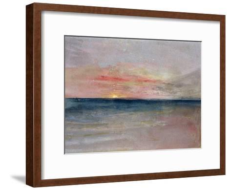 Sunset-J^ M^ W^ Turner-Framed Art Print