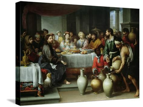 The Marriage Feast at Cana, C.1665-75-Bartolome Esteban Murillo-Stretched Canvas Print