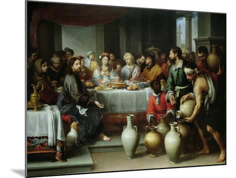 The Marriage Feast at Cana, C.1665-75-Bartolome Esteban Murillo-Mounted Giclee Print