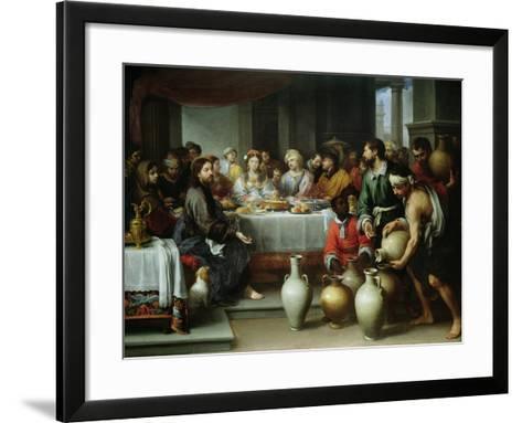 The Marriage Feast at Cana, C.1665-75-Bartolome Esteban Murillo-Framed Art Print