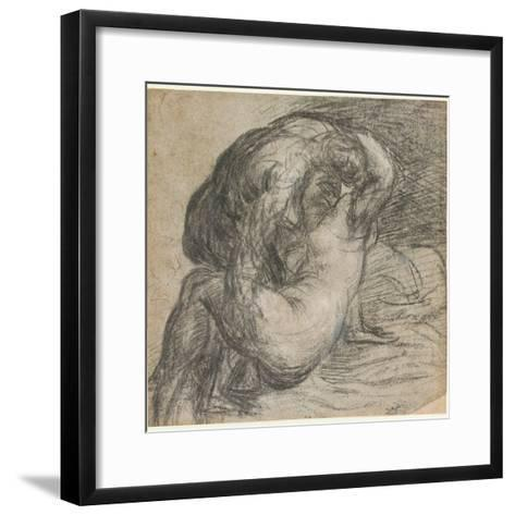 No.2256 Couple in an Embrace, or Jupiter and Io, C.1570-Titian (Tiziano Vecelli)-Framed Art Print
