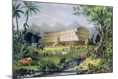 Noah's Ark, Pub. by Currier and Ives, New York-Napoleon Sarony-Mounted Giclee Print