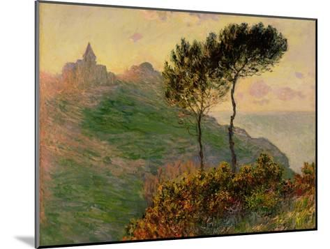 The Church at Varengeville, Against the Sunlight, 1882-Claude Monet-Mounted Giclee Print