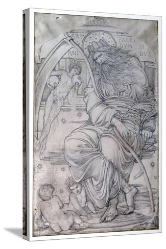 Saturn, from 'The Planets' a Series of Window Designs-Edward Burne-Jones-Stretched Canvas Print