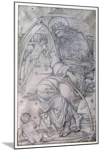 Saturn, from 'The Planets' a Series of Window Designs-Edward Burne-Jones-Mounted Giclee Print