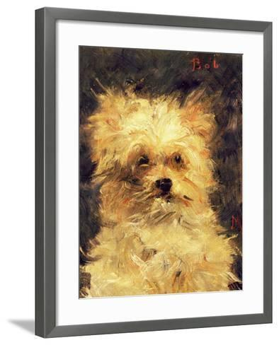 "Head of a Dog - ""Bob"", 1876-Edouard Manet-Framed Art Print"