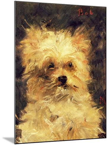 "Head of a Dog - ""Bob"", 1876-Edouard Manet-Mounted Giclee Print"