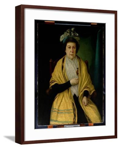 Portrait of an Old Woman--Framed Art Print