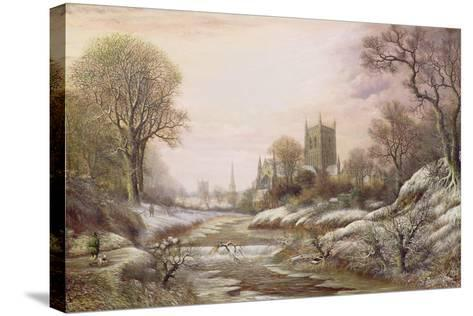 Worcester from the South West in the Snow, C.1875-Charles Leaver-Stretched Canvas Print