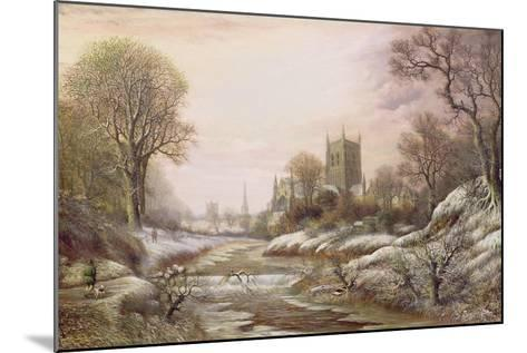Worcester from the South West in the Snow, C.1875-Charles Leaver-Mounted Giclee Print
