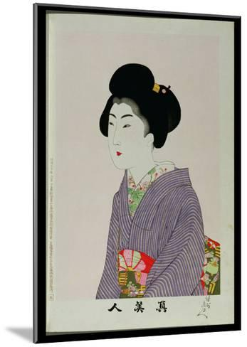 Shin Bijin (True Beauties) Depicting a Seated Woman, from a Series of 36, Modelled on an Earlier…-Toyohara Chikanobu-Mounted Giclee Print