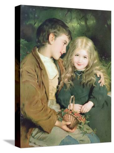 Little Sweethearts, from a Pears Annual, C.1880--Stretched Canvas Print