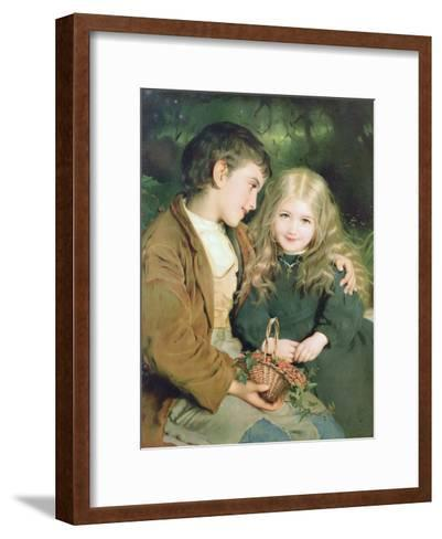 Little Sweethearts, from a Pears Annual, C.1880--Framed Art Print