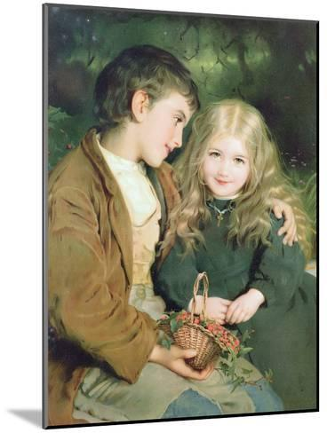 Little Sweethearts, from a Pears Annual, C.1880--Mounted Giclee Print