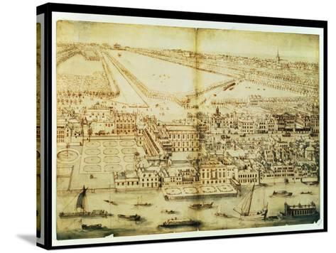 A Bird's Eye View of Whitehall Palace, C.1695-Leonard Knyff-Stretched Canvas Print