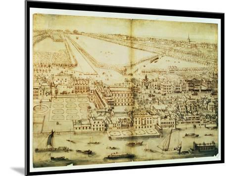 A Bird's Eye View of Whitehall Palace, C.1695-Leonard Knyff-Mounted Giclee Print