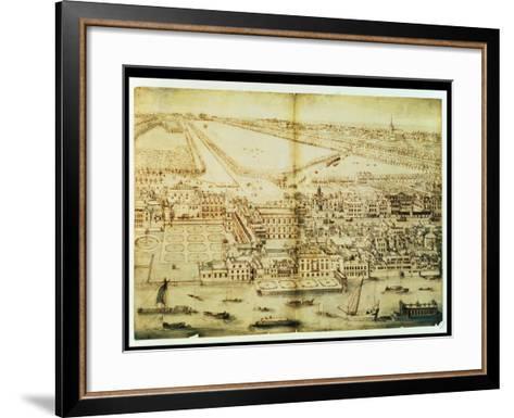 A Bird's Eye View of Whitehall Palace, C.1695-Leonard Knyff-Framed Art Print