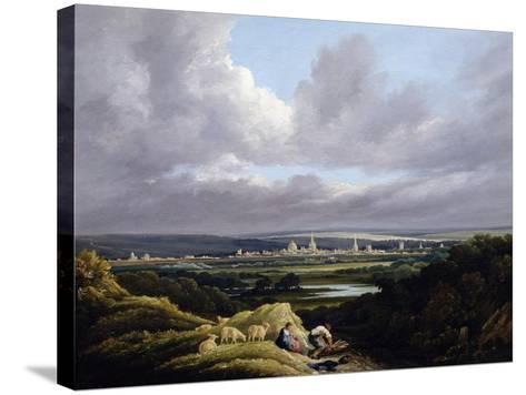 View of Oxford from a Distance-J^ M^ W^ Turner-Stretched Canvas Print