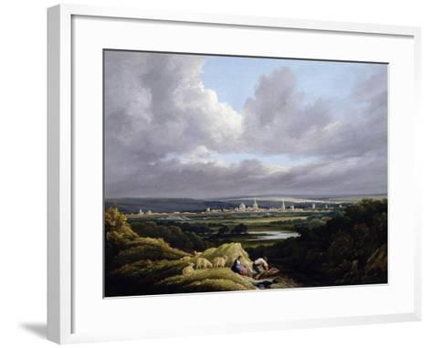View of Oxford from a Distance-J^ M^ W^ Turner-Framed Art Print