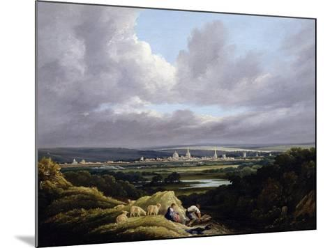 View of Oxford from a Distance-J^ M^ W^ Turner-Mounted Giclee Print