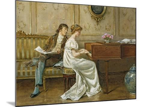The New Spinet-George Goodwin Kilburne-Mounted Giclee Print