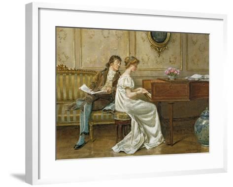 The New Spinet-George Goodwin Kilburne-Framed Art Print