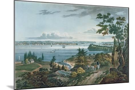 New York from Weehawk, Engraved by I. Hill, 1820-3-William Guy Wall-Mounted Giclee Print