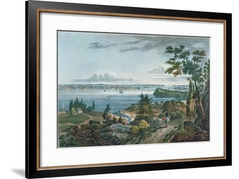New York from Weehawk, Engraved by I. Hill, 1820-3-William Guy Wall-Framed Art Print