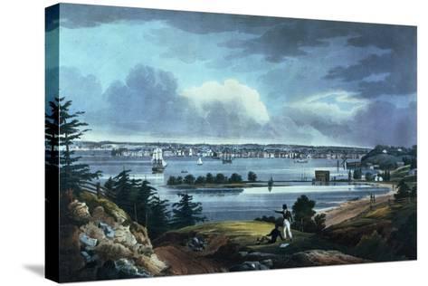 New York from Heights Near Brooklyn, 1820-23-William Guy Wall-Stretched Canvas Print