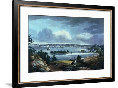New York from Heights Near Brooklyn, 1820-23-William Guy Wall-Framed Art Print