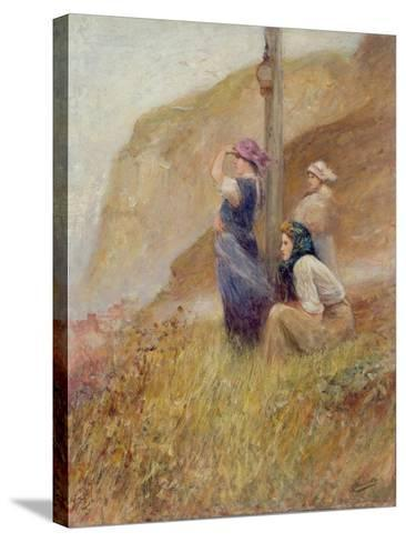 Waiting on the Cliffs-Robert Jobling-Stretched Canvas Print
