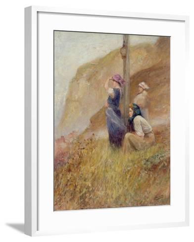 Waiting on the Cliffs-Robert Jobling-Framed Art Print