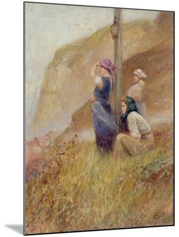 Waiting on the Cliffs-Robert Jobling-Mounted Giclee Print