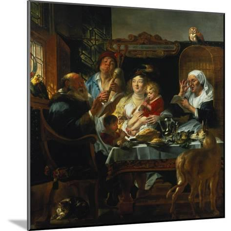 """""""As the Old Sing, the Young Pipe""""-Jacob Jordaens-Mounted Giclee Print"""