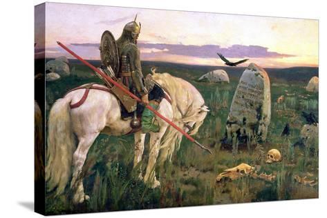 The Knight at the Crossroads, 1882-Victor Mikhailovich Vasnetsov-Stretched Canvas Print