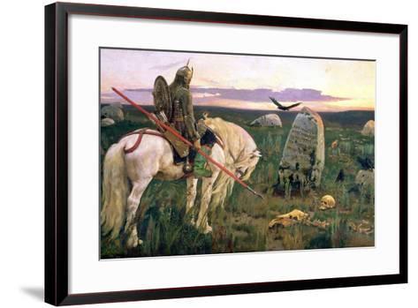 The Knight at the Crossroads, 1882-Victor Mikhailovich Vasnetsov-Framed Art Print