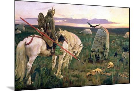 The Knight at the Crossroads, 1882-Victor Mikhailovich Vasnetsov-Mounted Giclee Print